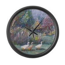 Geese Large Wall Clock