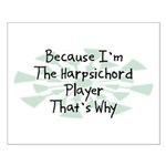 Because Harpsichord Player Small Poster