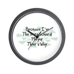 Because Harpsichord Player Wall Clock