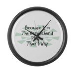 Because Harpsichord Player Large Wall Clock