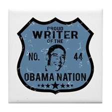 Writer Obama Nation Tile Coaster