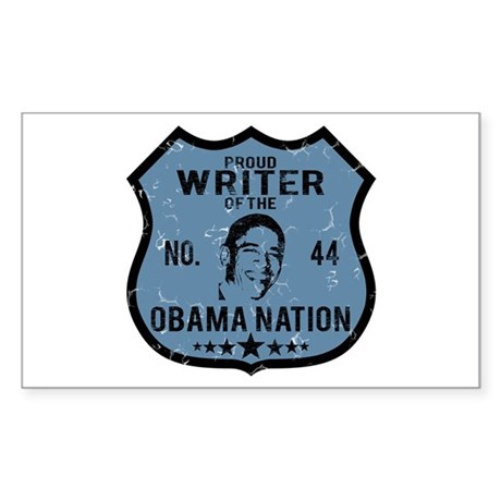 Writer Obama Nation Rectangle Sticker