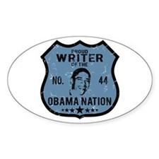 Writer Obama Nation Oval Decal