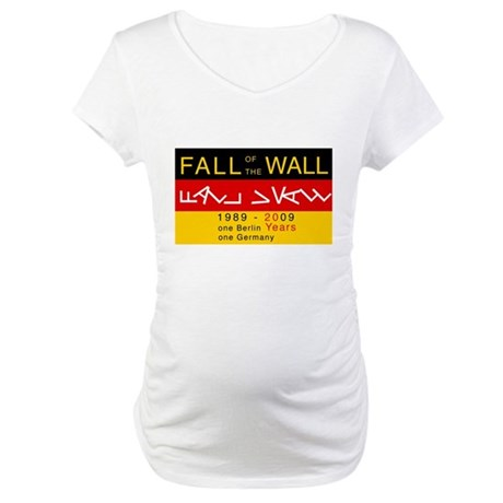 Fall of the Wall Anniversary Maternity T-Shirt