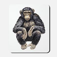 Chimpanzee drawing Mousepad