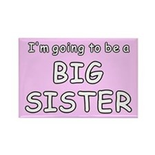 Pink big sister to be Rectangle Magnet