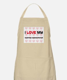 I Love My Charities Administrator BBQ Apron