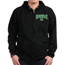 Boston Shamrock Zip Hoodie