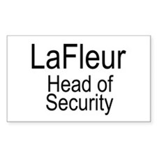 LaFleur Security Rectangle Decal