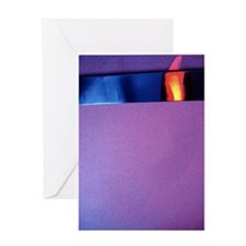 HOT COLORS AND COOL TEXTURES Greeting Card