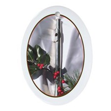 Flute Christmas  Oval Ornament