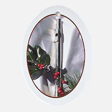 Flute Christmas  Oval Ornament