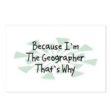 Because Geographer Postcards (Package of 8)
