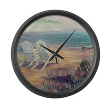 Fog Bank Large Wall Clock