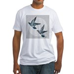 Sky Flight Pigeons Fitted T-Shirt