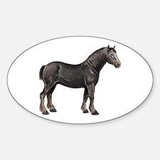 Percheron Horse Oval Decal