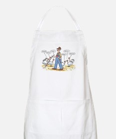 Thanksgiving Mooo BBQ Apron