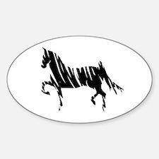 Saddlebred Horse Oval Decal