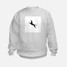 Black Dock Jumping Dog Sweatshirt