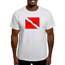 Muff Diver : Ash Grey T-Shirt