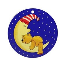 Sleepytime Bear Ornament (Round)