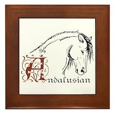Andalusian Horse Framed Tile