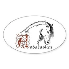 Andalusian Horse Oval Decal
