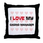 I Love My Casino Manager Throw Pillow