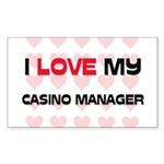 I Love My Casino Manager Rectangle Sticker