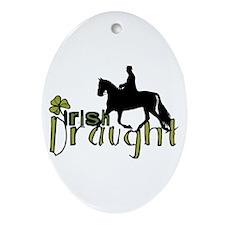 Irish Draught Horse Oval Ornament