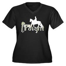 Irish Draught Horse Women's Plus Size V-Neck Dark