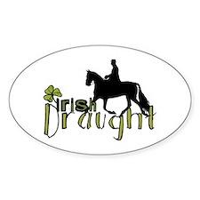 Irish Draught Horse Oval Bumper Stickers