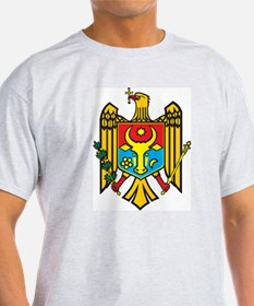 Moldova Coat Of Arms Ash Grey T-Shirt