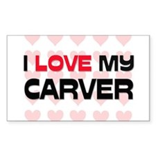 I Love My Carver Rectangle Decal