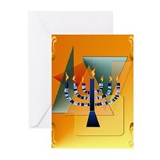 Menorah with shapes Greeting Cards (Pk of 20)