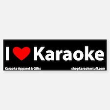 I Heart Karaoke Bumper Bumper Bumper Sticker