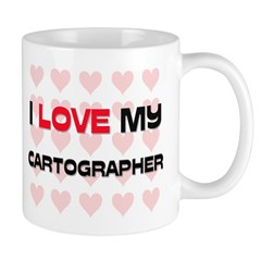 I Love My Cartographer Mug