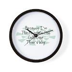 Because Fountain Pen Collector Wall Clock