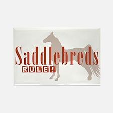 Saddlebred Horse Rectangle Magnet