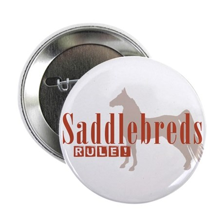 "Saddlebred Horse 2.25"" Button"