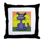 Cat w/sun Throw Pillow