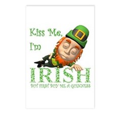 KISS ME BUT BUY ME A GUIN Postcards (Package of 8)