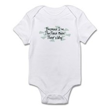 Because First Mate Infant Bodysuit
