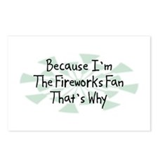 Because Fireworks Fan Postcards (Package of 8)