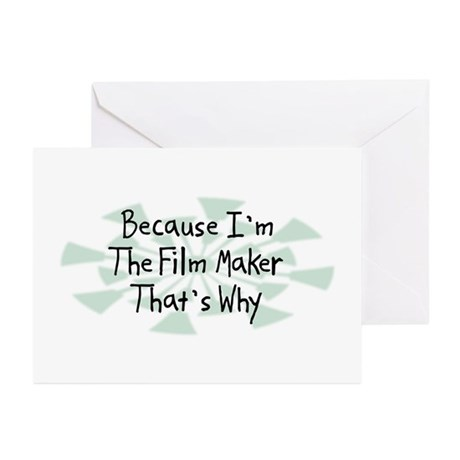 Because Film Maker Greeting Cards (Pk of 20)
