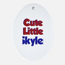 Cute Little Skyler Oval Ornament