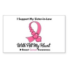 BreastCancerSister-in-Law Rectangle Decal
