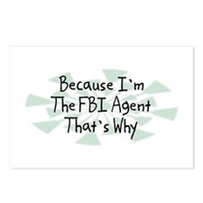 Because FBI Agent Postcards (Package of 8)