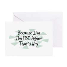 Because FBI Agent Greeting Cards (Pk of 10)