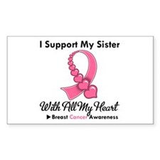 BreastCancerSupportSister Rectangle Decal